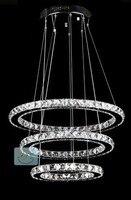 NEW FREE SHIPPING Diameter 50 40 30 Cm New Modern LED Round Crystal Lamp Diamond Ring