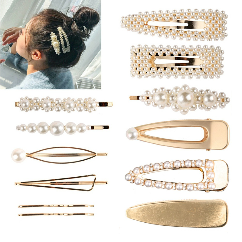 Jeseca 1 Set Hairgrips Girls Hair Accessories Full Pearls Hair Clips Ladies Elegant Jewelry Hair Pins for Children's Day Gifts