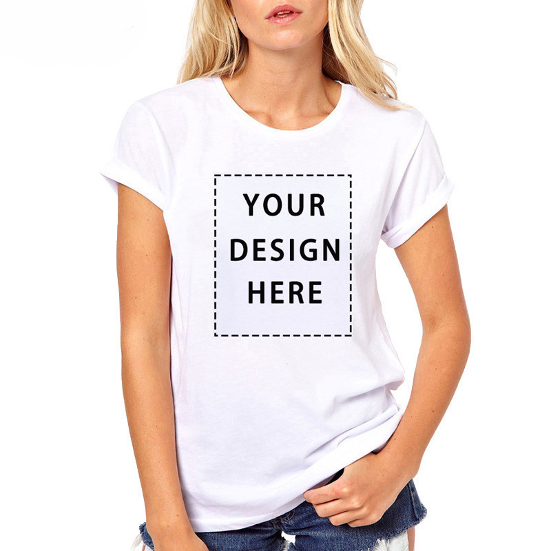 1156646bbbf5 Customized T shirt Women Your Own Custom Text Name Personalized Message or  Image Unisex Casual Short