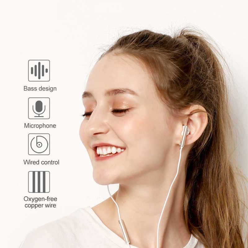Oryginalne słuchawki HUAWEI AM116 ze sterowaniem głośnik mikrofonu zestaw słuchawkowy 1.2m długość przewodowa obsługa Android dla XiaoMi HUAWEI VIVO