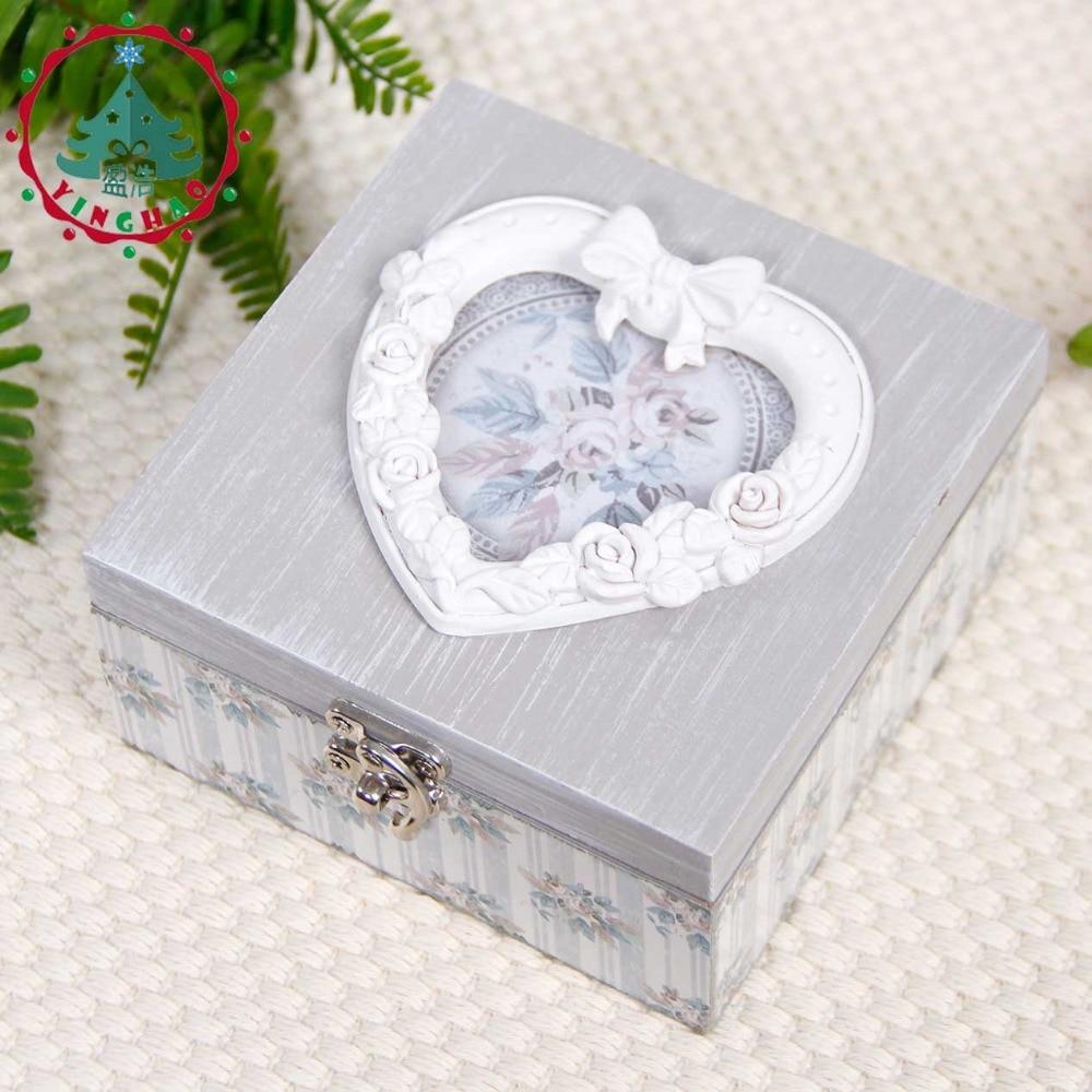 inhysa 1 st Chic Hantverk Smycken Square Shape Box Förvaring DIY - Heminredning - Foto 2