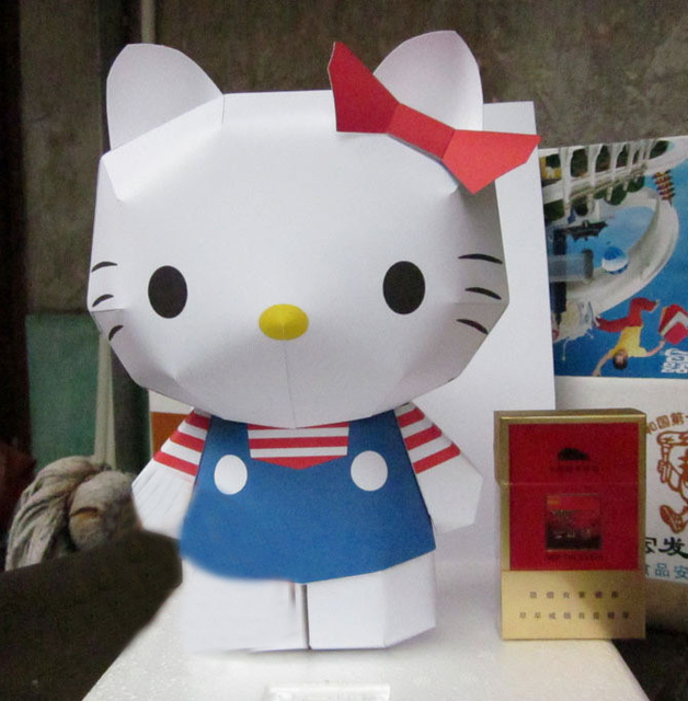 Especially Big Cute Cat 23cm Crafts With Construction Paper Paper