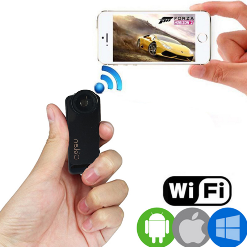 цена на VRFEL Wireless WiFi Mini Camera Full HD 1080p Mini dvr DV16G TF Card Camera 140 degree wide angle lens optional