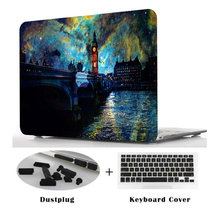 Printing Hard Case Shell Keyboard Cover Skin+Dust plug For Apple Macbook 2018 New 13Air model A1932 laptop case 13 15 Touch Bar
