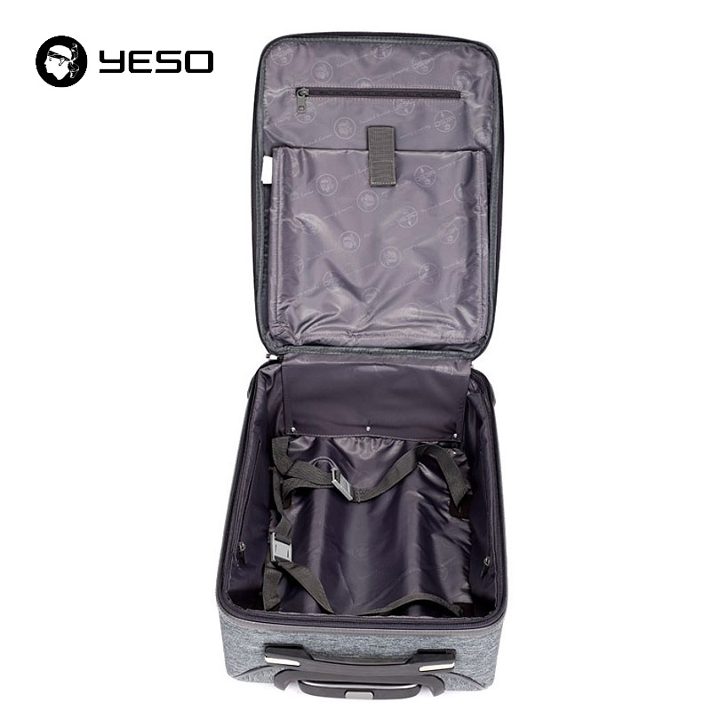 YESO Business Casual Suitcase Carry On Spinner Wheel Travel Luggage New Design Waterproof Suitcases With Wheel Luggage Unisex