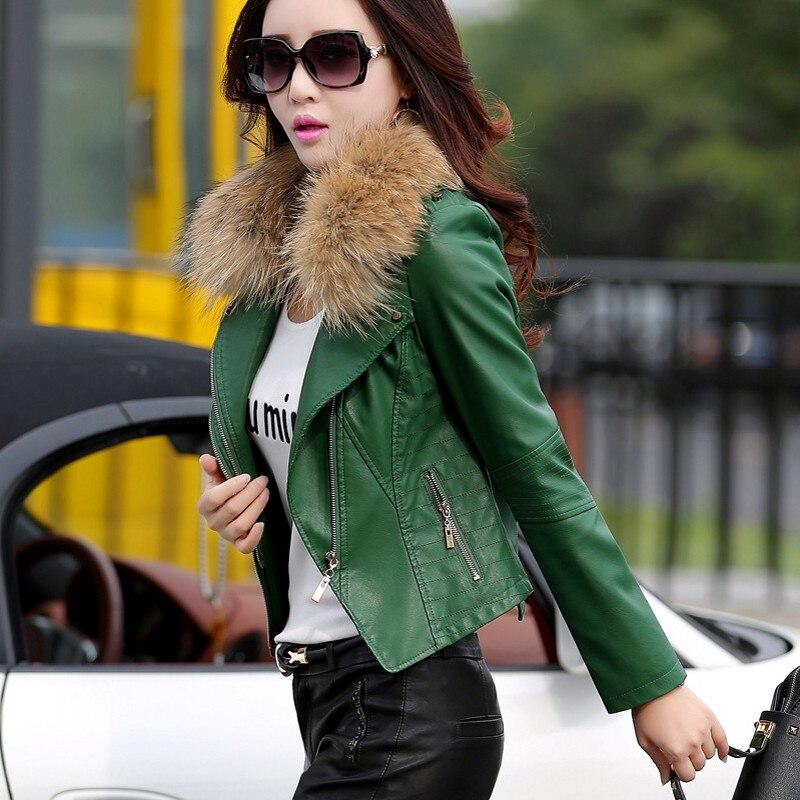 Court Chaud M Hiver Cuir 1 Épais Slim 3 Motard 4 Faux Fourrure Femme Fit Nouvelle En Solide Mode Manteau 2 Pu 5xl Col Femmes Veste De v8nwN0m