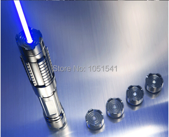 High Power Most Powerful Military 450nm 100000m Blue Laser Pointer Pen Adjustable Focus Burning Paper range