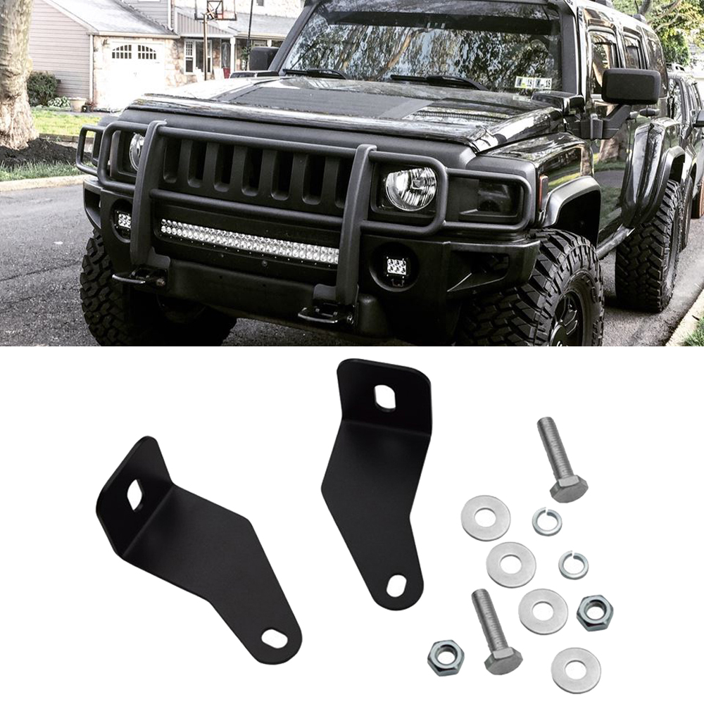 Bumper Hidden 30 Inches LED Light Bar Mounting Bracket Kit For Hummer H3 2006 2007 2008 2009 2010 Models