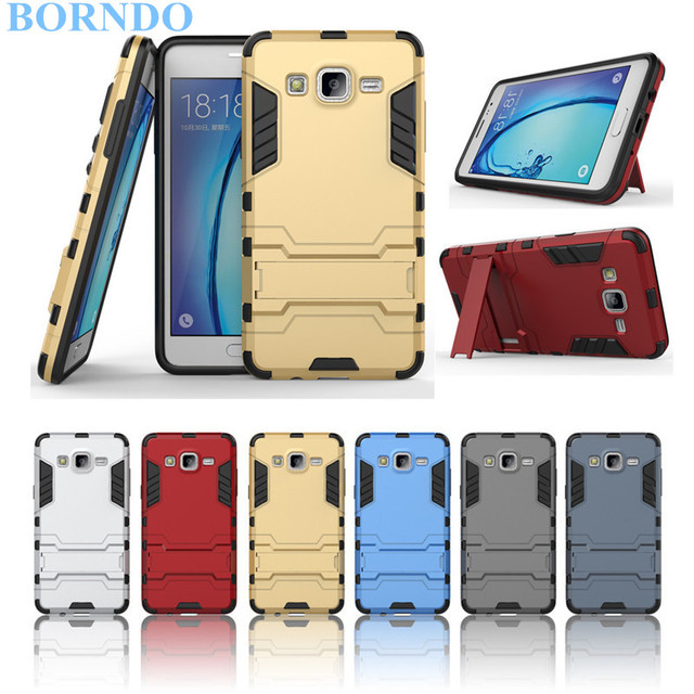 new arrival 431f3 59d04 US $4.99 |Slim Iron Man Hybrid Armor Dual Case For Samsung Galaxy Grand  Prime G530 C10 C8 C5 C7 C9 Pro On7 On5 Back Cover With Kickstand-in Fitted  ...