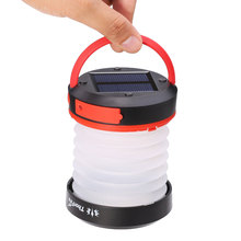 ThorFire Portable Solar LED Camping Lantern USB Rechargeable Light for Outdoor Climbing Hiking with 900mAh battery