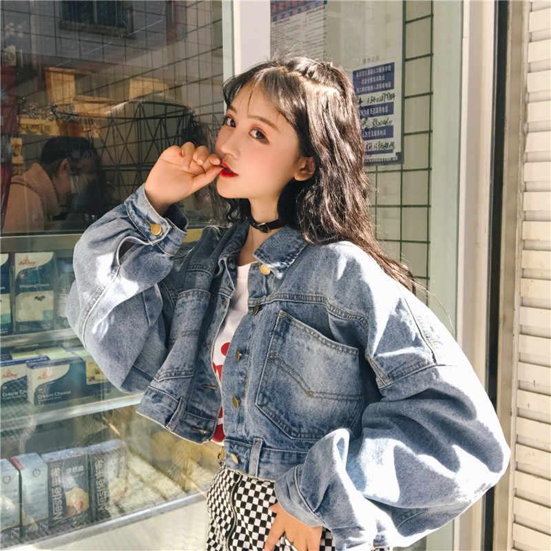 9ddfb9f3e89 TAJIYANE Spring Autumn Harajuku Denim Jacket Women Streetwear Coat Vintage  Jeans Jackets Korean Ladies Jaqueta Feminina