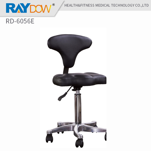 Rolling Stool Chair Blue Chairs Puerto Vallarta Rd 6056e Standard Dental Mobile Saddle Doctor S Pu Leather Dentist Spa
