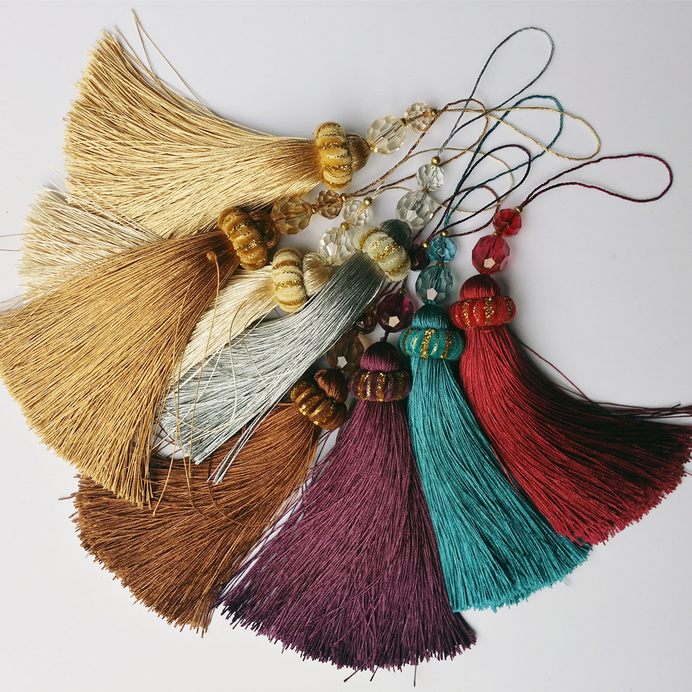 Beautiful Quality Decorative Small Key Tassel for Bag Curtain Hometextile Valance 22 cm Length 8 colors