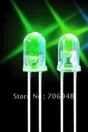 2000pcs high brightness 5mm pure green LED diode for traffic lightings long life