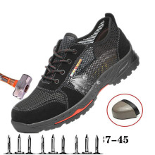 New Breathable Safety Shoe Lightweight Mens Shoes Anti-Puncture And Puncture Work Single Sandals Mesh Sports 37-45