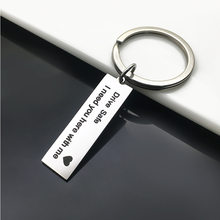 Custom Keyring Gifts Engraved Drive Safe I Need You Here With Me Keychain Couples Boyfriend Girlfriend Fashion Jewelry Key Chain(China)