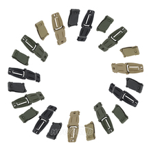 10 pcs / Lot Outdoor Military Fans Backpack Accessories Molle System Webbing Clip Buckle Backpack Fixed Strap Buckle