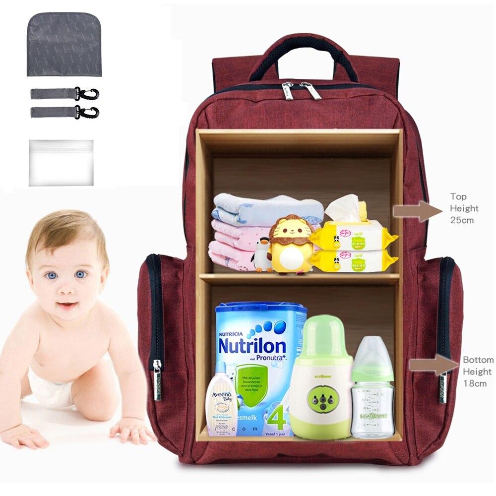 Sac à couches de grande capacité insulaire sac à dos de voyage momie multifonction sacs à dos de bébé pour maternelle sac à langer Maternidade