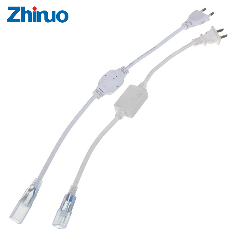 ZHINUO EU/US Plug LED Strip Accessory Power Supply Light SMD 5050 3014 LED 220V Strip Plug Lighting Special Plug AC 220V Type