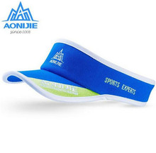 цена AONIJIE Men Women Outdoor Sport Marathon Visor Cap Ultralight Quick Dry Jogger Running Hat Golf Tennis UV Protection Caps Sun