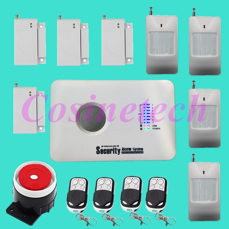 Cheap good quality Russian/English Voice Wireless GSM Alarm System Security Home Alarm systeme with door sensor,motion detector wireless smoke fire detector for wireless for touch keypad panel wifi gsm home security burglar voice alarm system