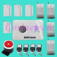 Giá rẻ chất lượng tốt Nga/Tiếng Anh Bằng Giọng Nói Báo Động Không Dây GSM Nhà An Ninh Hệ Thống Báo Động systeme với cảm biến cửa, chuyển động detector