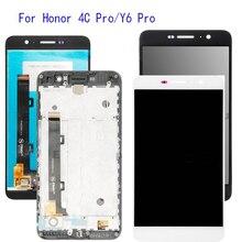 5.0 z wyświetlanie ramki dla Huawei Honor 4C Pro TIT L01 wyświetlacz LCD montaż digitizera ekranu dotykowego wymiana + rama + narzędzia