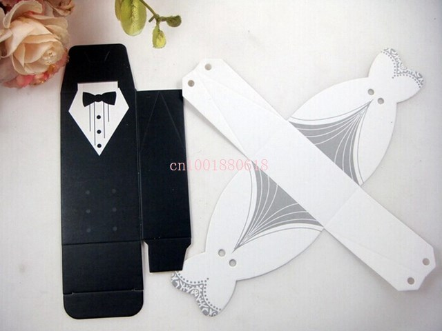 Fedex DHL Free Shipping Newest Fashion Bride and Groom box Wedding Favor Boxes Gift box Candy