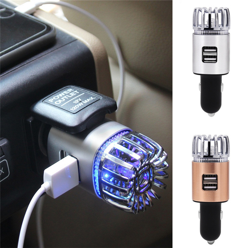 kongyide Air Purifier 12V 0.8W Car Charger Car Air Purifier for 2 in 1 Charger USB Negative Ion Air Lonizer dropship ap18