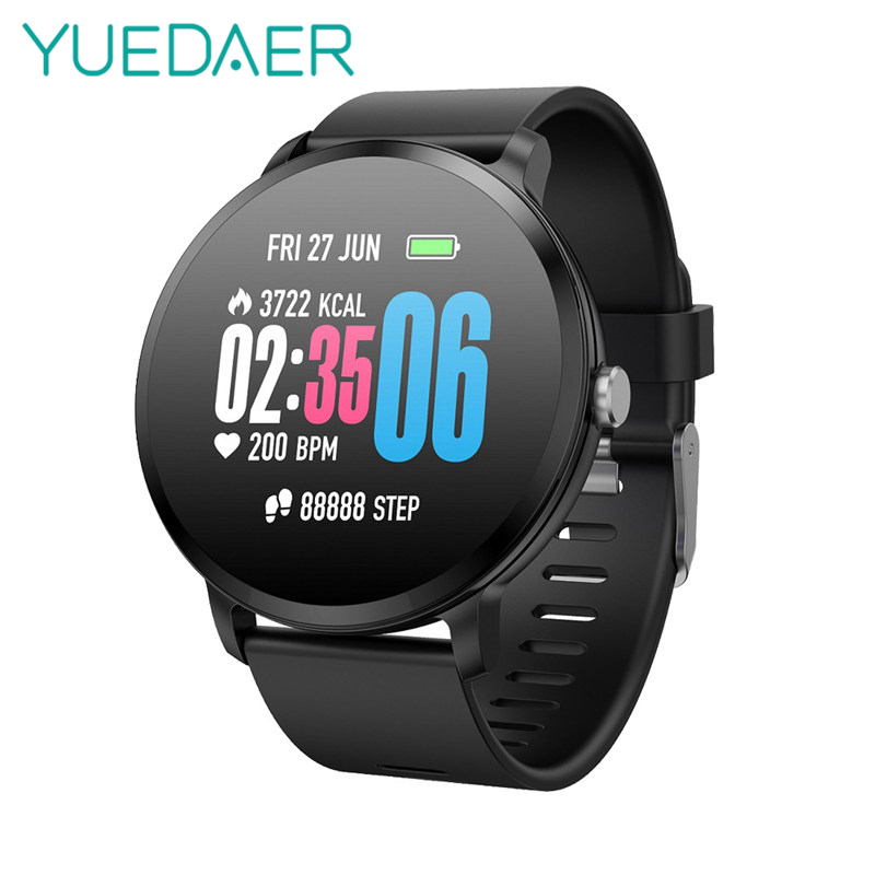 YUEDAER New V11 Smart Watch Health Blood Pressure Heart Rate Activity Tracker IP67 Waterproof 1.3 Touch Screen For Men Women colmi v11 smart watch ip67 waterproof tempered glass activity fitness tracker heart rate monitor brim men women smartwatch