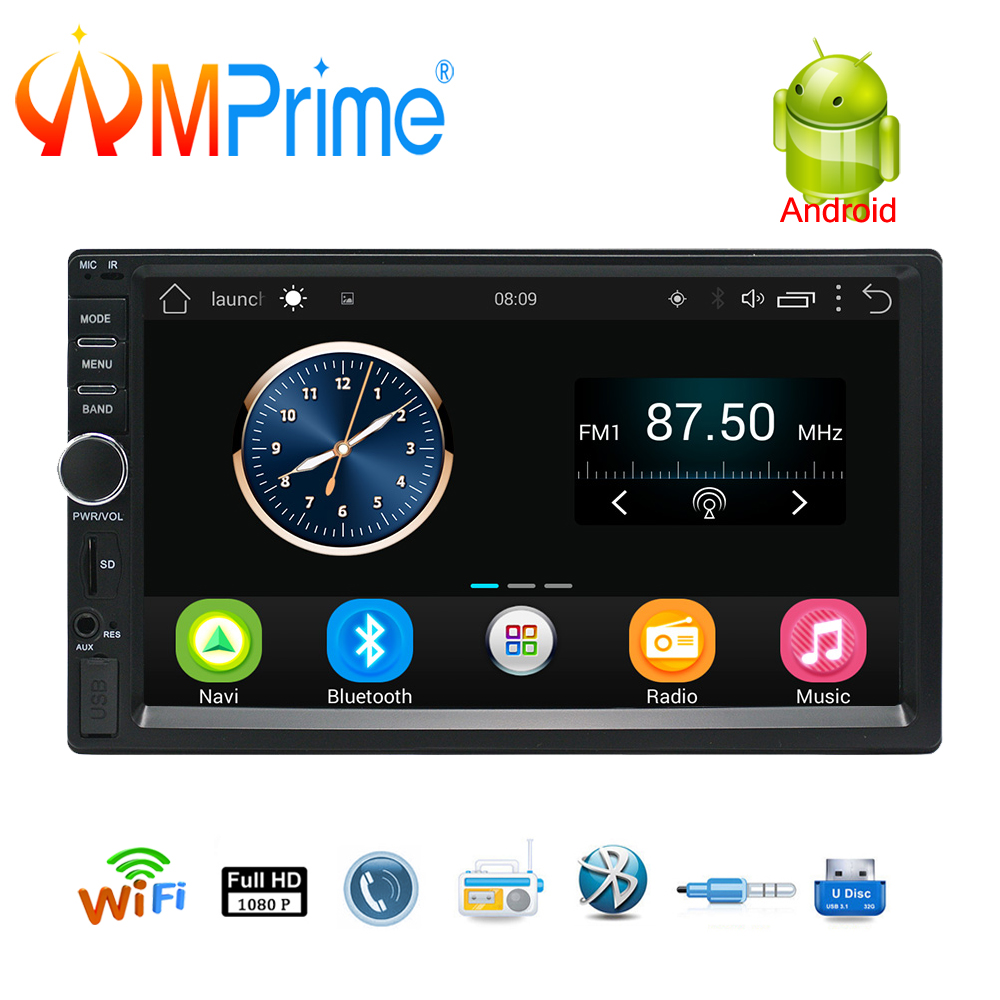 AMPrime 2 Din Android Car Radio GPS Navigation 7 2din Universal Car Stereo Audio Bluetooth Wifi USB No DVD Autoradio MP5