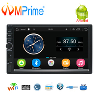 AMPrime 2 Din Android Car Radio GPS Navigation 7 2din Universal Car Stereo Audio Bluetooth Wifi USB No DVD Autoradio MP5
