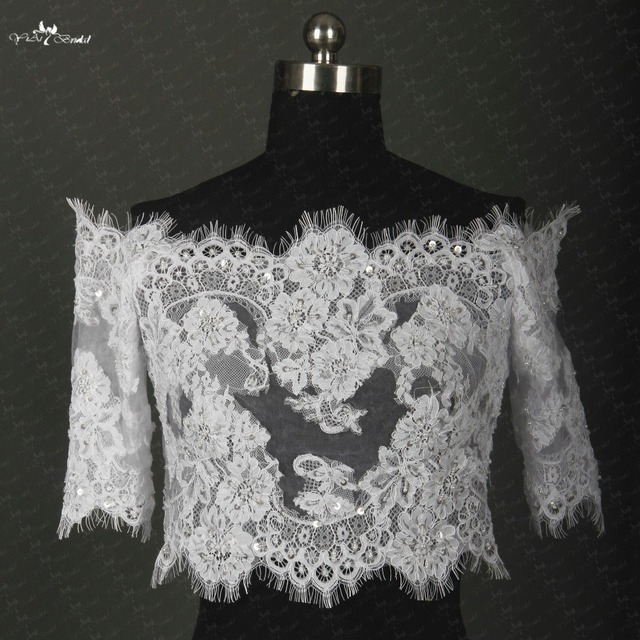 RSJ139 Half Sleeves French Lace Off Shoulder Lace Bolero