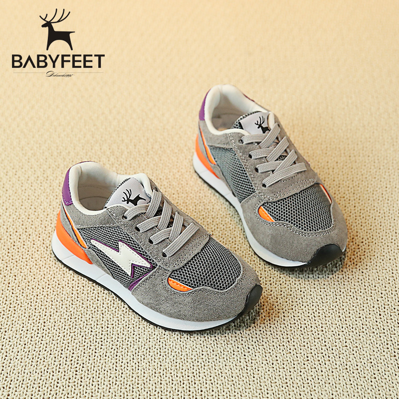 Brand babyfeet 1Y-7Y Children's shoes girls sports shoes baby Toddler shoes Breathable fashion sneakers boy infant casual shoes 0 18 summer infant toddler shoes breathable crib baby shoes soft sole fashion baby girl shoes
