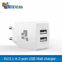 TIEGEM EU Plug USB Charger 5V 3.4A Universal 2 Port Travel Portable Charging Charger for Phone Charger for iPhone 6 7 for Xiaomi