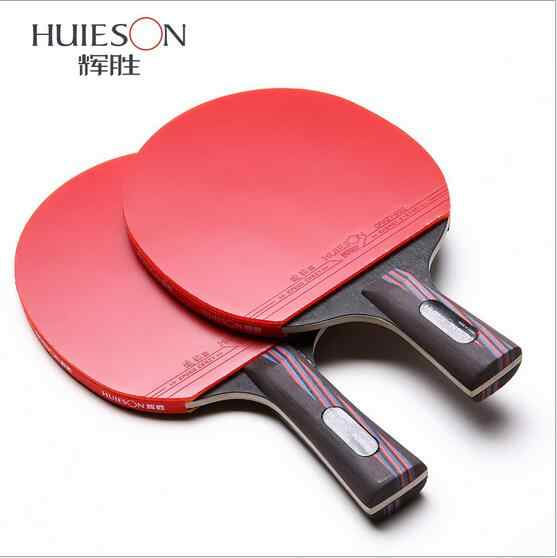 Professional Carbon Fiber Table Tennis Racket Blade With Double Face Pimples-in Racket Rubber Original Ping Pong With Bag