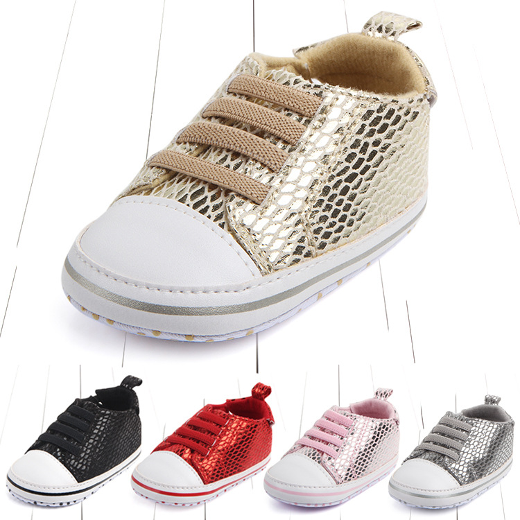 Baby moccasins bling shoes infant anti-slip PU Leather first walker soft soled Newborn 0-1 years Sneakers sport Baby shoes