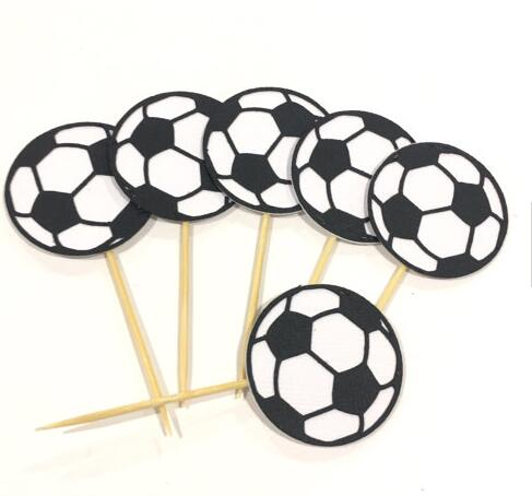 Soccer Ball Boy Baby Shower Birthday Cupcake Toppers Party Cake Simple Soccer Ball Decorations Cupcakes