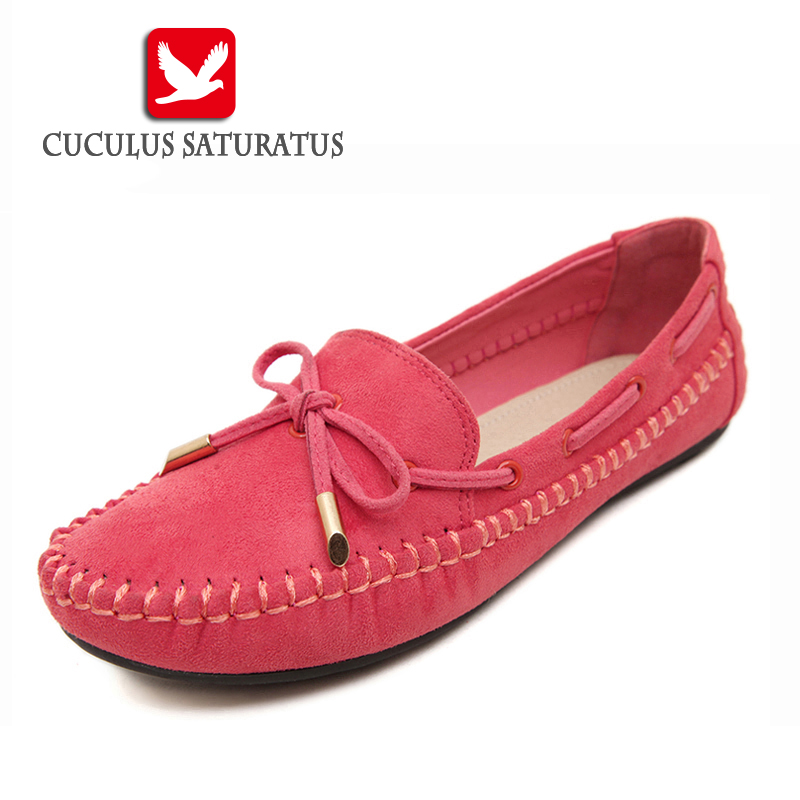 Cuculus Womens Flats Casual Bowtie Loafers Sweet Candy Colors Flats Solid autumn Shoes Woman Female Footwear Plus Size 44 B008 brand new fashion casual loafers sweet candy colors women ballet flats solid summer style shoes woman 3 colors plus size 35 40