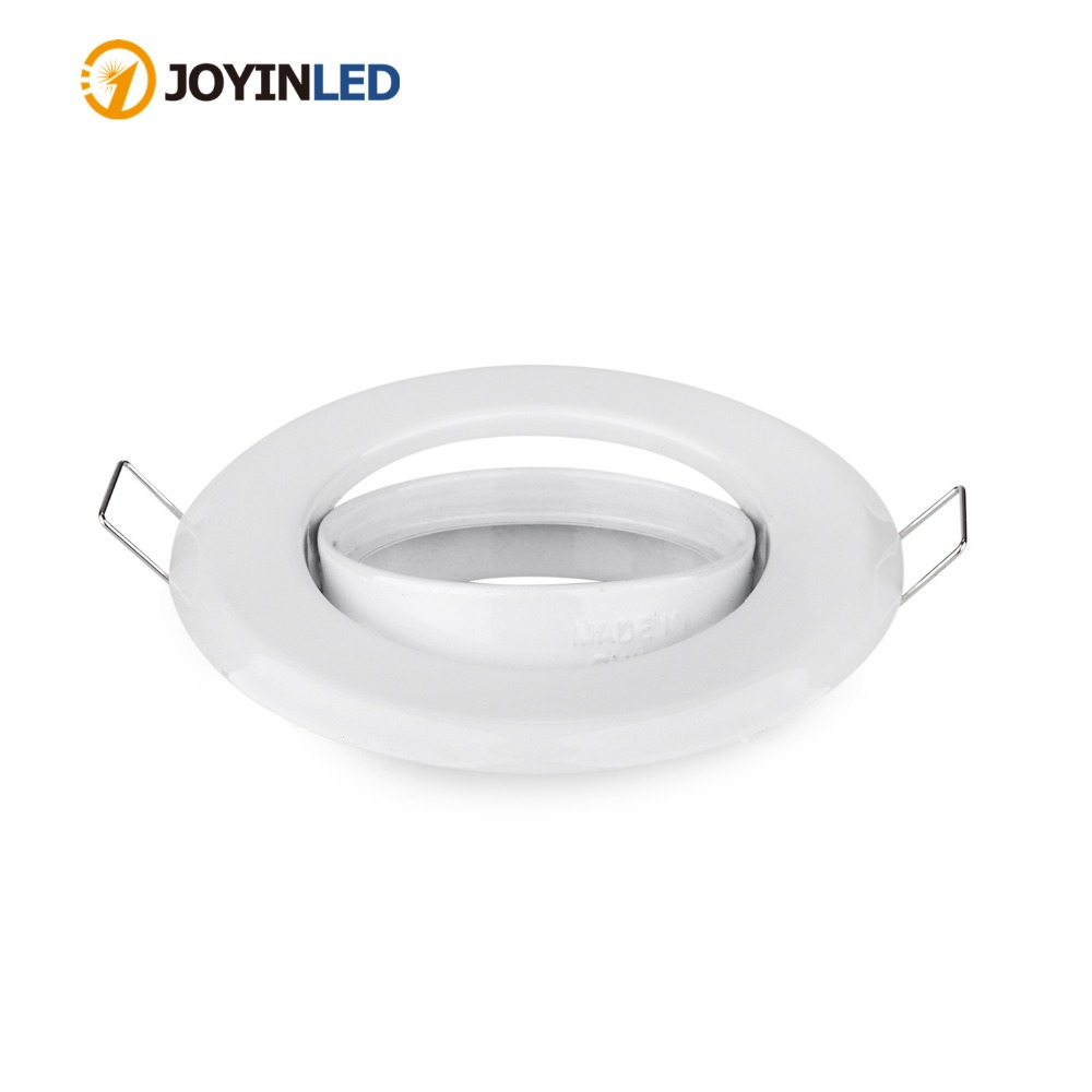 cheap for discount f460a e9df8 US $1.96 18% OFF|Factory Round White Zinc Alloy Ceiling Light Frames Led  Recessed Ceiling Downlight Fixtures Ceiling Light Fittings GU10 MR16-in ...