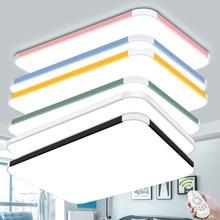 Modern remote control chandeliers Ceiling Lamp Living room Bedroom multi color chandelier Black Blue Yellow Pink Chandelier