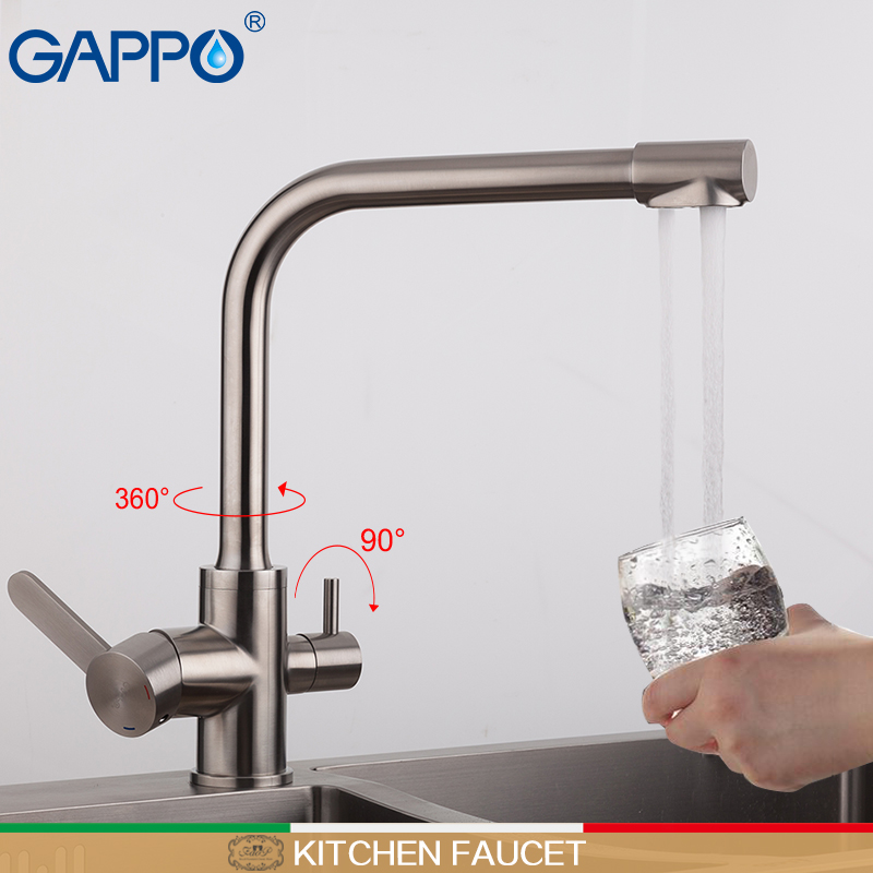 GAPPO kitchen faucet with filtered water water mixer tap water filter tap torneira para cozinha brass kitchen tap mixer gappo pull out kitchen faucet brass water mixer kitchen tap kitchen mixer tap water tap brass chrome torneira cozinha