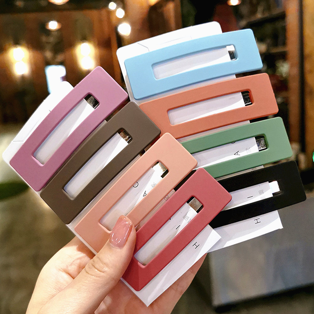 Fashion Women Girls Candy Color Square Hair Clip BB Hairpins Metal Barrettes Styling Tools Hair Accessories For Daily Life