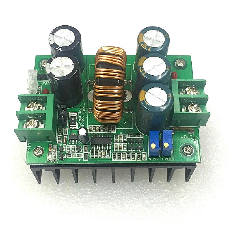 1200W 20A DC Constant Current CV Boost Converter 8V-60V to 12V-80V Non-isolated Voltage Step-up Power Supply Module1200W 20A DC Constant Current CV Boost Converter 8V-60V to 12V-80V Non-isolated Voltage Step-up Power Supply Module