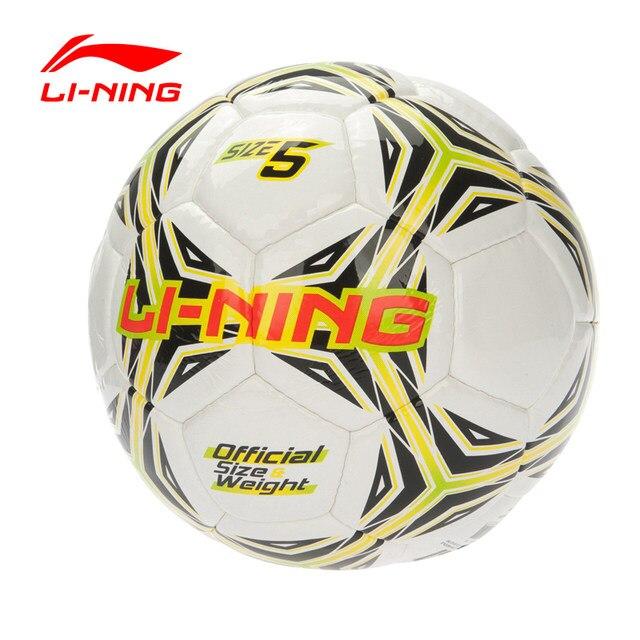 be290d73fd Li genuína-Ning Bolas De Futebol Profissional T-PU PVC Tamanho balones 5  Esporte da Bola de Futebol de futbol Formação LN equipamentos L583OLB