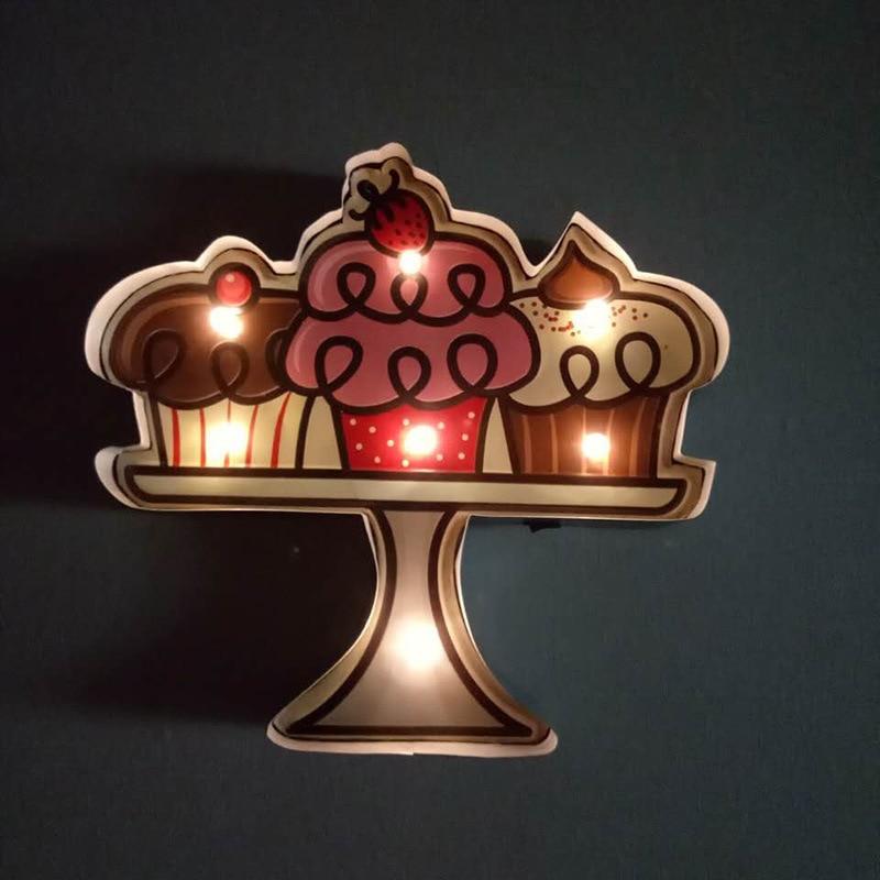 Led Sign Home Decor: Vintage Home Decor Cake Dessert LED Neon Sign Bar Cafe