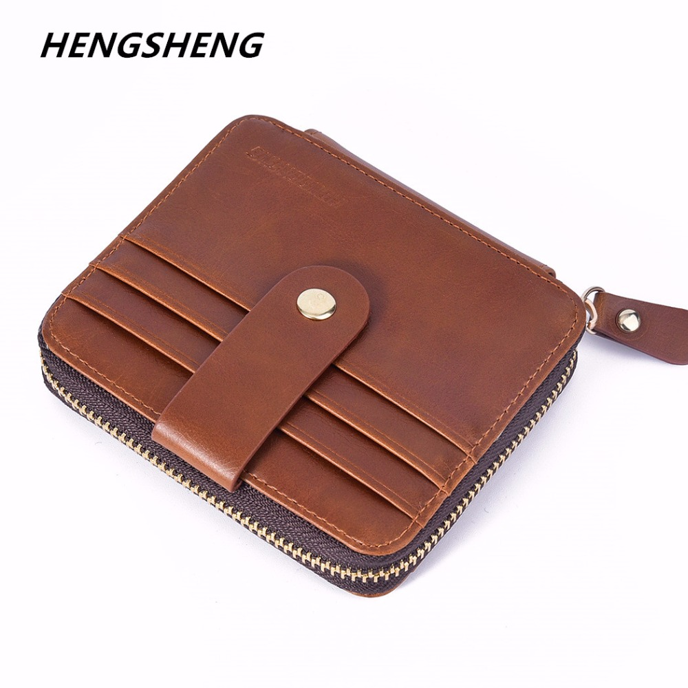 New Arrival Men's Card wallet Hot Sale pu Leather Mens Pocket Card Holder Mini  thin Purse with Coin Pocket for male