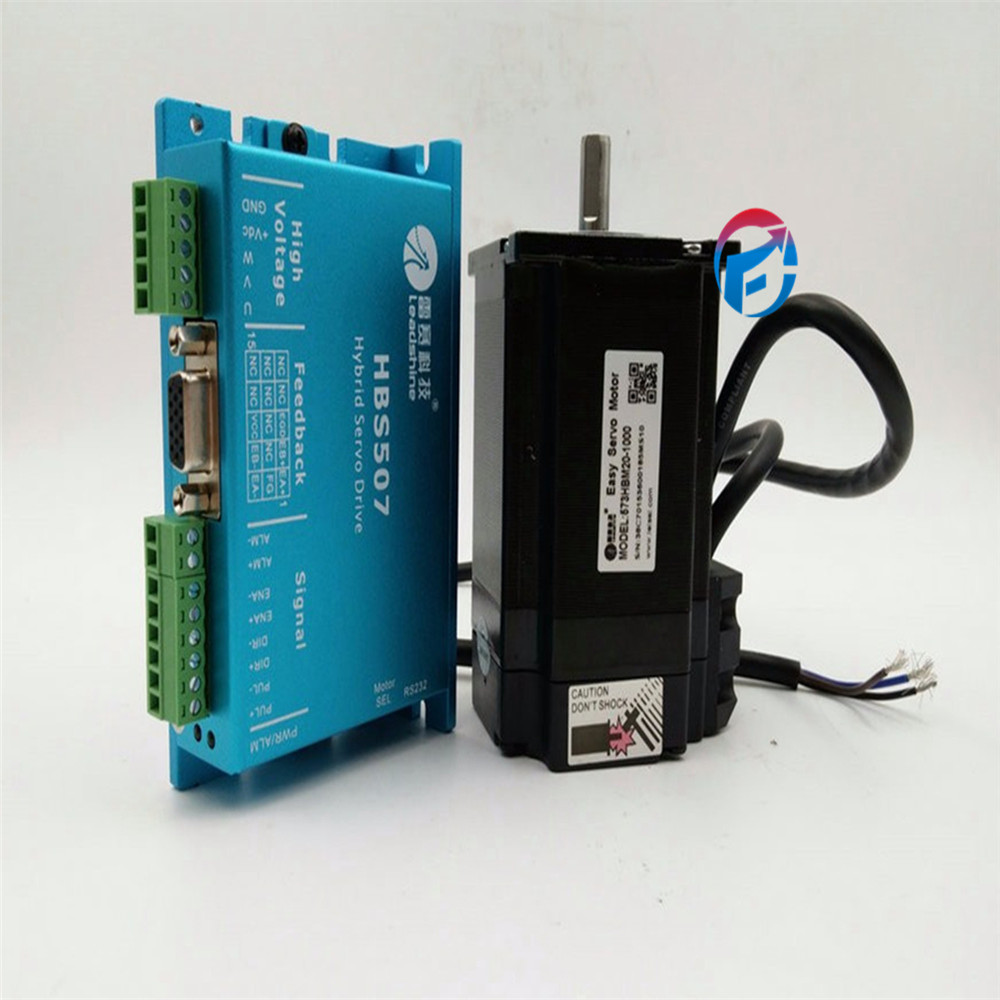Leadshine Closed Loop servo Drive HBS507 57mm 3-phase servo motor 573HBM20-EC-1000 with 1000 line encoder HBS57 new version ключ гаечный комбинированный kraft кт 700502 8 мм