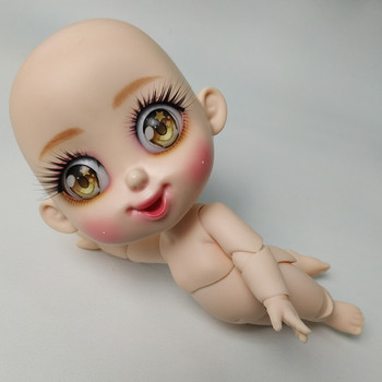 BJD 1/8 Bru SD naked smile dolls model body girl nude high quality doll give up toy shop figures