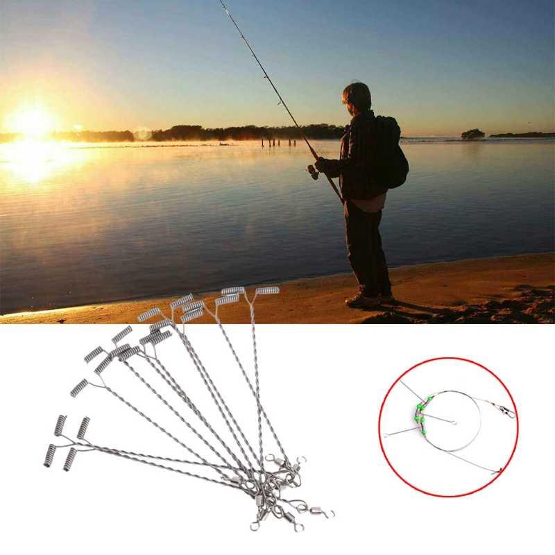 10Pcs T a Forma di Filo da Pesca Braccio con Girevole in Acciaio Inox 9/12/15 Centimetri Rig Affrontare Hot vendita